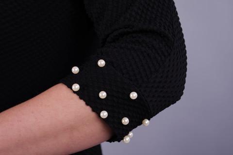 Лейла. Женское праздничное платье больших размеров. Черный.