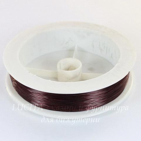Леска для бисера и бусин, 0,3 мм, цвет - темно-коричневый, примерно 100 м