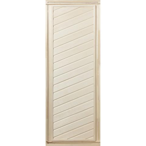 Дверь глухая из липы, диагональная 1,9х0,7 м