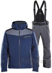 Элитный горнолыжный костюм 8848 Altitude Dimon Jacket Venture Navy-Grey Melange 18 мужской