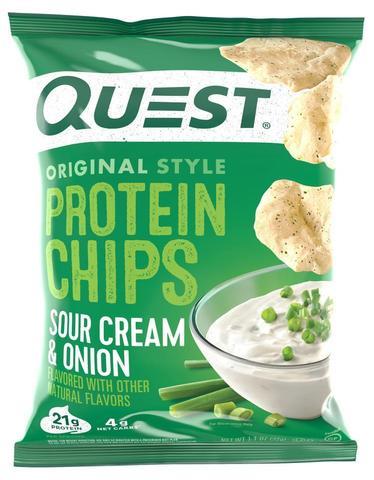 Quest Nutrition Protein Chips Sour Cream & Onion,32гр 1шт Протеиновые Чипсы Сметана-Зеленый Лук