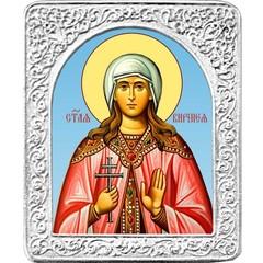 Святая Виринея (Вероника). Маленькая икона в серебряной раме.