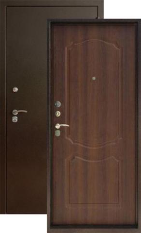 Дверь входная Форт Форт Б-11, 2 замка, 1,8 мм  металл, (медь антик+дуб рустикальный)