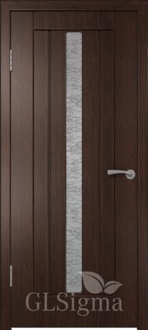 Дверь GreenLine Sigma-2, стекло белое, цвет венге, остекленная