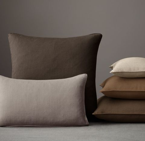 Custom Belgian Textured Linen Stitched Pillow Cover
