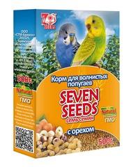 Корм для волнистых попугаев с орехом Seven Seeds