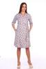 Мамаландия. Комплект для беременных и кормящих халат и сорочка, лапки/серый вид 2