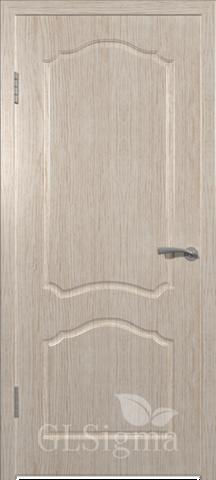Дверь GreenLine Sigma-3, цвет беленый дуб, глухая