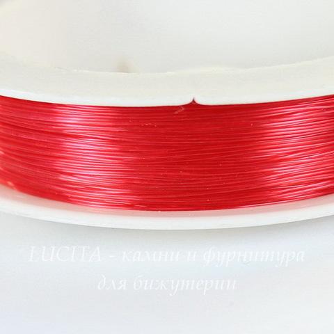 Леска для бисера и бусин, 0,3 мм, цвет - красный, примерно 100 м