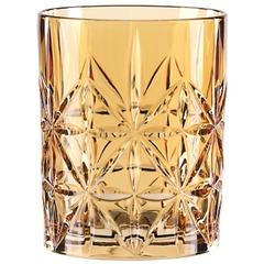 Оранжевый хрустальный стакан для виски HIGHLAND, 345 мл