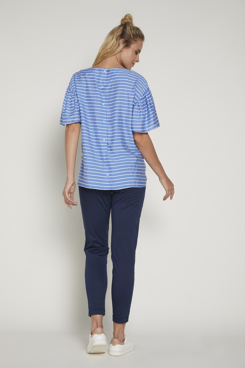 Блузка 09350 голубой