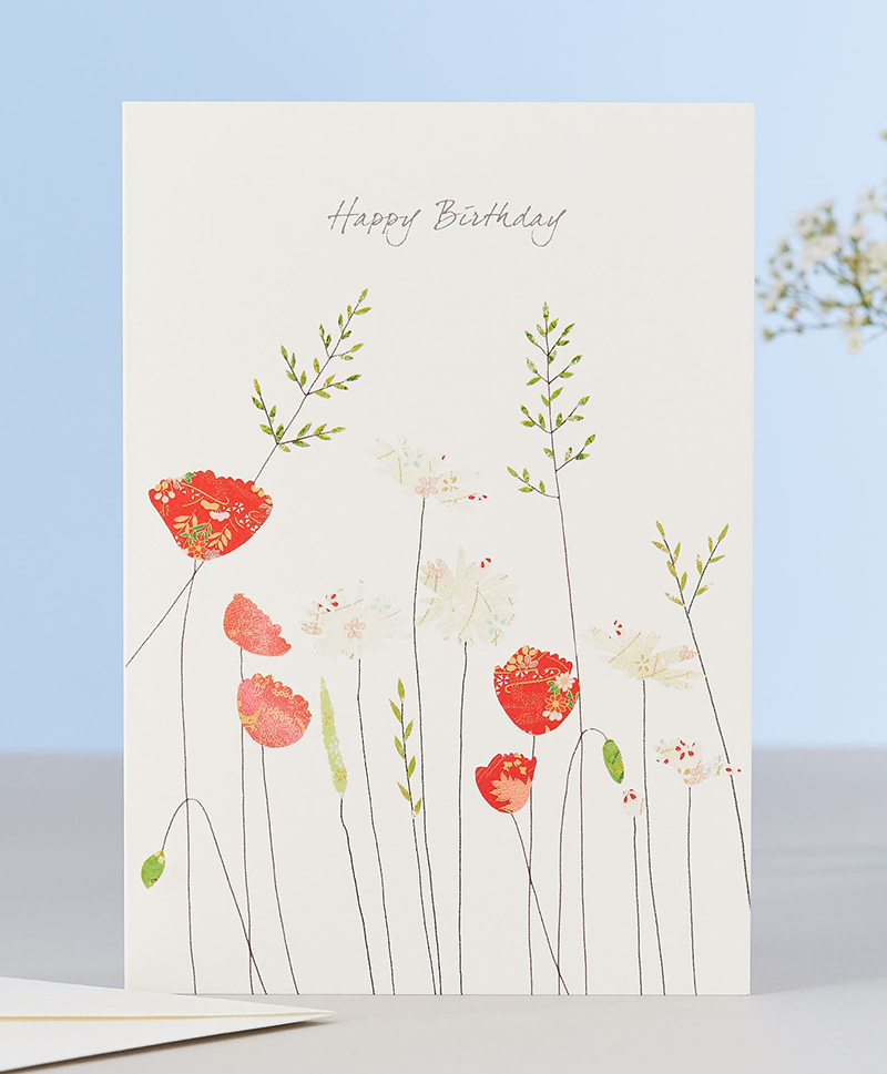 Открытка Poppies & Daisies Birthday