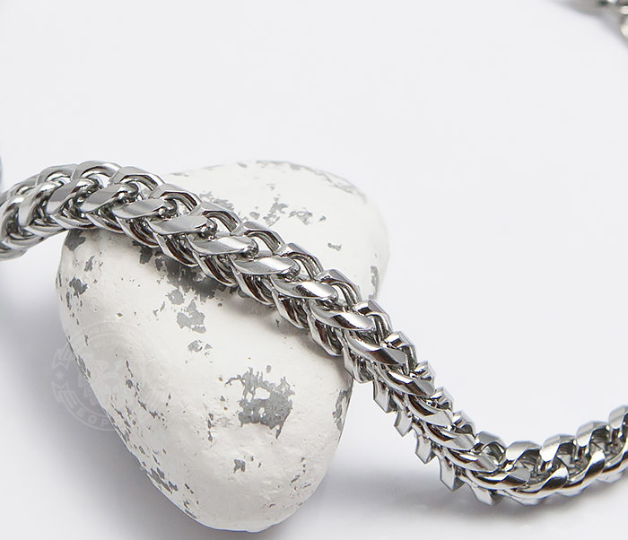 BM487 Лаконичный мужской браслет цепь из стали (25 см) фото 03