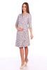 Мамаландия. Комплект для беременных и кормящих халат и сорочка, лапки/серый вид 3