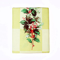 Скатерть 152х213 Carnation Home Fashions Christmas Fabric Tablecloths Yuletide