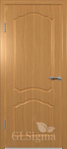 Дверь GreenLine Sigma-3, цвет миланский орех, глухая
