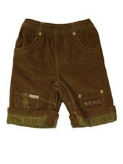 Брюки для новорожденных мальчиков вельветовые, цвет коричневый