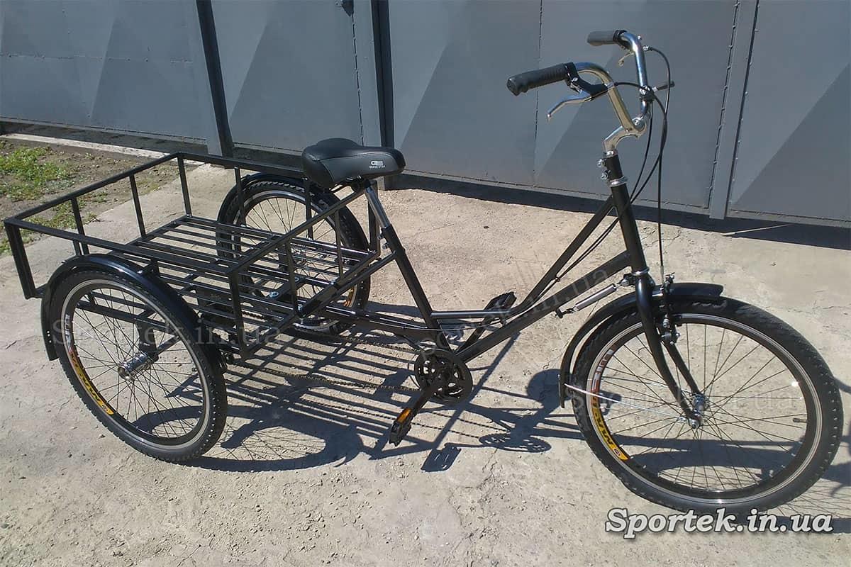 Трехколесный грузовой велосипед 'Греция' с грузовой платформой и колесами 24