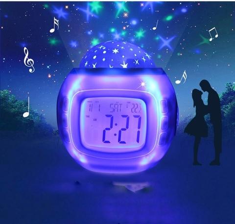 Часы-будильник Ночник-проектор Звездное небо