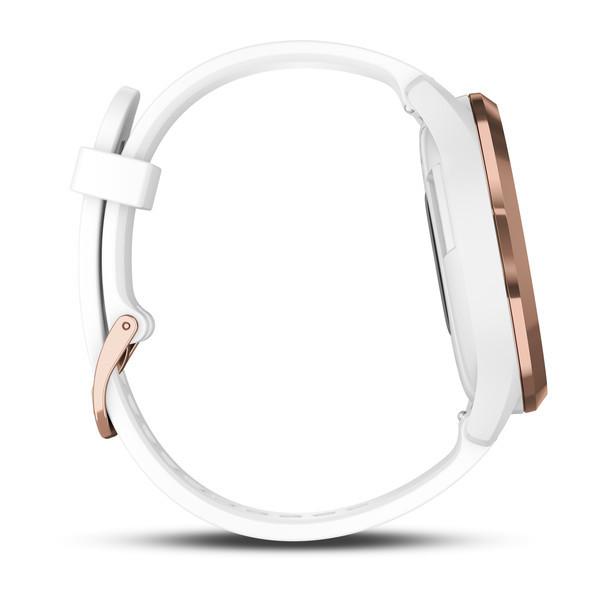 Vivomove HR Sport розовое золото с белым ремешком