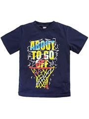 BK002F-24 футболка для мальчиков, темно-синяя