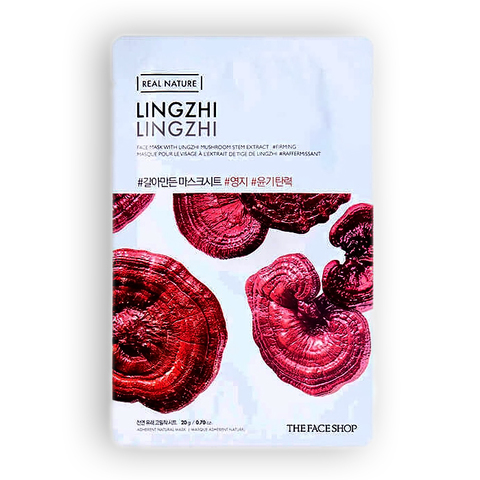 THE FACE SHOP Real Nature Lingzhi  Face Mask 20 gm