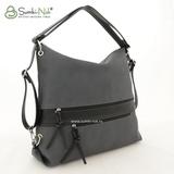 Сумка Саломея 387 французский сфинкс серый + черный (рюкзак)