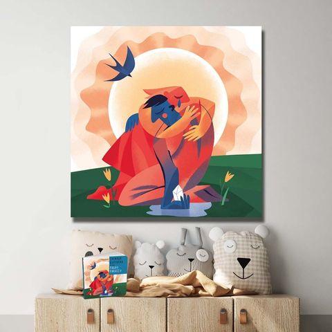 Картина «Любовь растопила лед» 30х30см или 80х80см