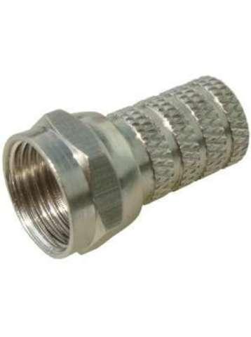 Разъем прижимной F-типа RG6 с резиновым уплотнителем (Закрутка)