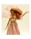 Платье из жатой парчи - На кукле. Одежда для кукол, пупсов и мягких игрушек.
