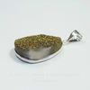 Подвеска Кварц в рамке (цвет - античное серебро) 30,6х22,3х10,1 мм №1