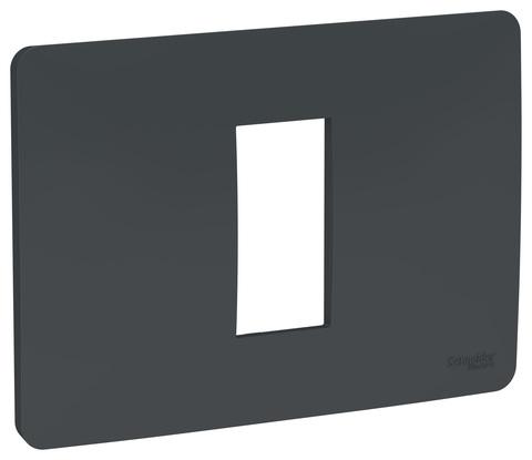 Рамка 1-модульная, Цвет Антрацит. Schneider Electric. Unica Modular. NU210154