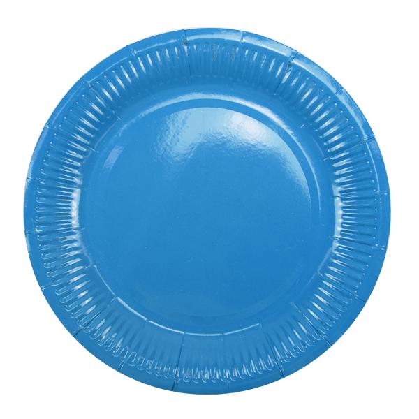 Тарелки бумажные ламинированные Blue 6шт 18см