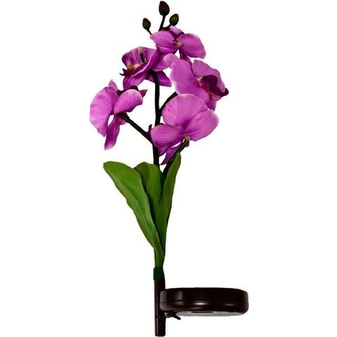 Светильник на солнечной батарее «Орхидея фиолетовая», 5 LED белый, PL301 (Feron)