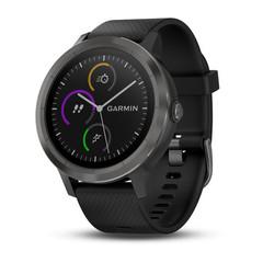 Часы с GPS Garmin Vivoactive 3 черные с черным ремешком
