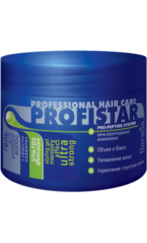 Floralis ProfiStar Гель для укладки волос с эффектом «памяти» Ультрафиксация 300г
