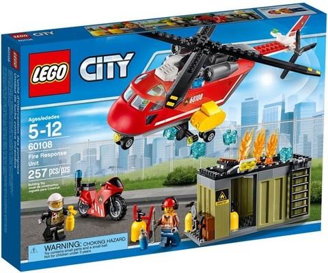 LEGO City: Пожарная команда быстрого реагирования 60108 — Fire Response Unit — Лего Сити Город