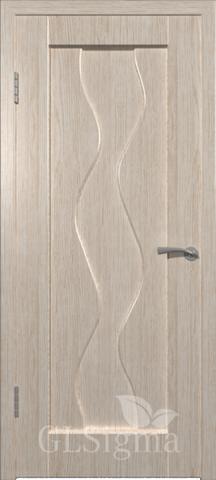 Дверь GreenLine Sigma-4, цвет беленый дуб, глухая