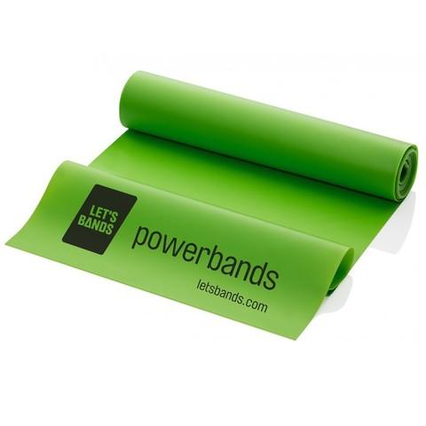 Эластичная лента POWERBANDS FLEX (среднее сопротивление, зеленая)