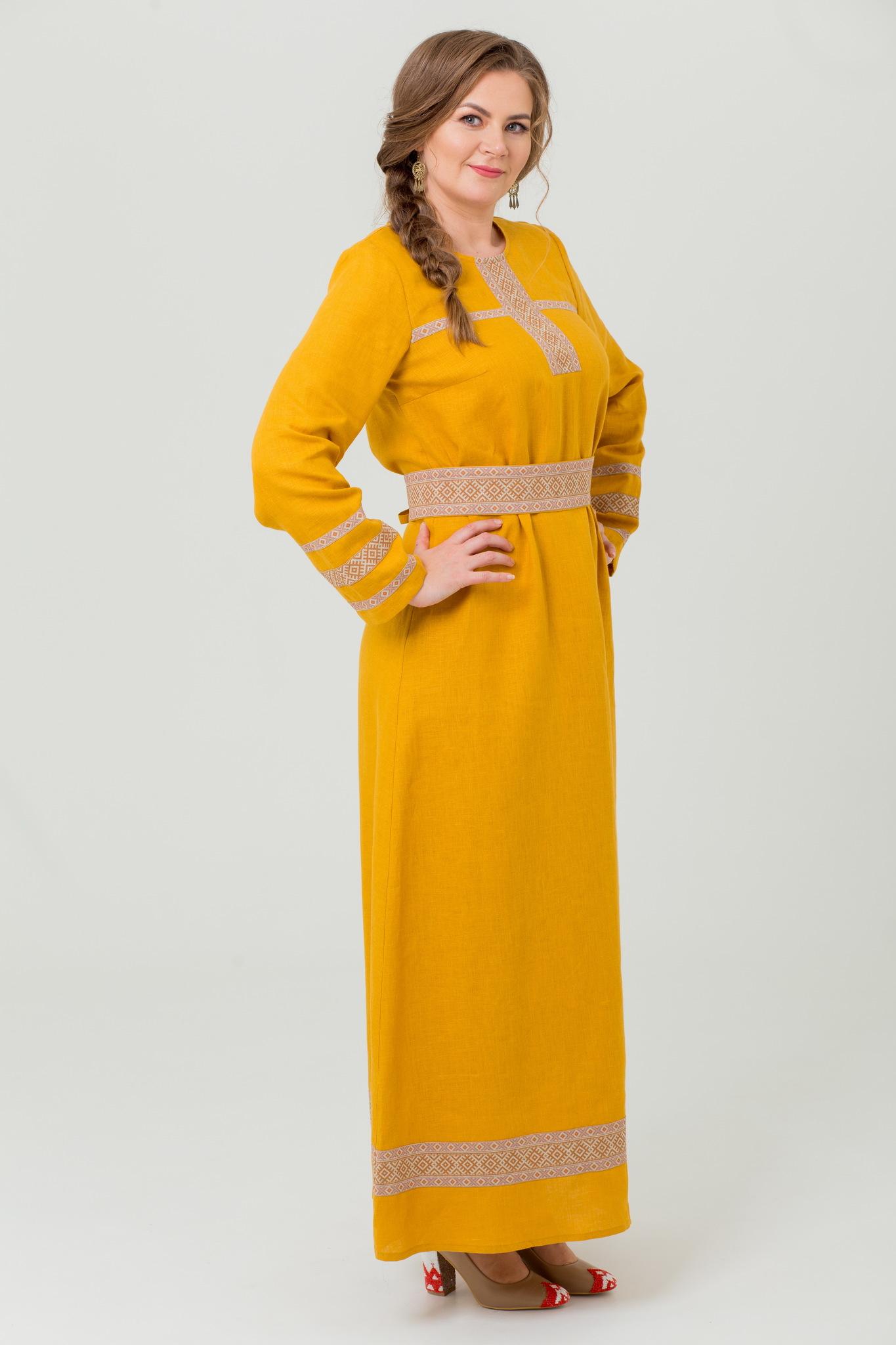 Платье из льна Горицвет