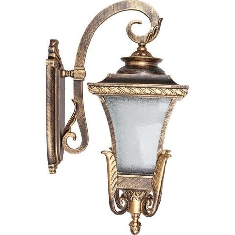 Светильник садово-парковый, 60W 230V E27 IP44 черное золото, PL4022 (Feron)