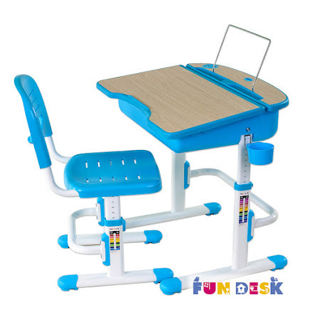 Комплект: парта и стул-трансформеры FunDesk Capri Blue