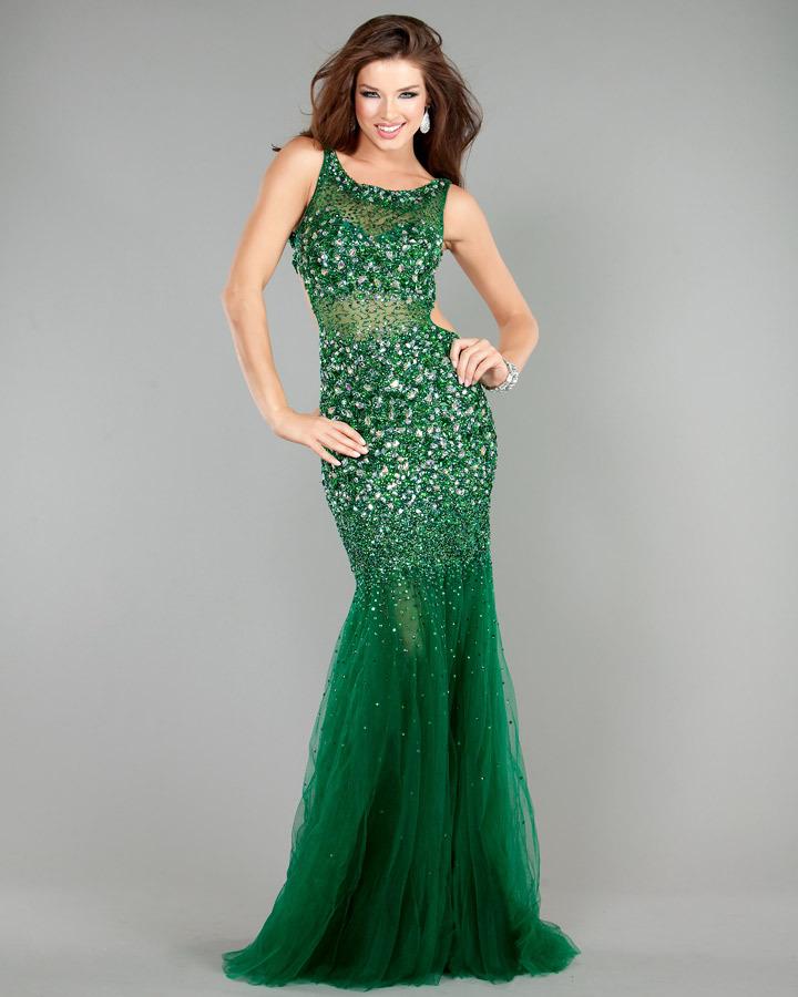 e5b14d10c6d Jovani 171100 вечернее платье с открытой спиной зеленое