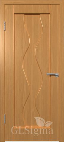 Дверь GreenLine Sigma-4, цвет миланский орех, глухая