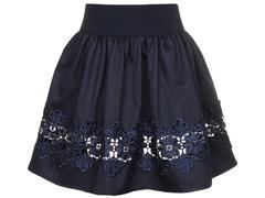 2232-1 юбка детская, темно-синяя