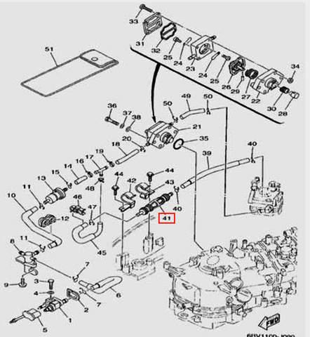Помпа ручная для лодочного мотора F5 Sea-PRO(9-41)