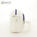 Сумка Саломея 338 французский белый + фиолетовый