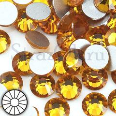 Стразы холодной фиксации клеевые стеклянные Topaz желто-оранжевый на StrazOK.ru