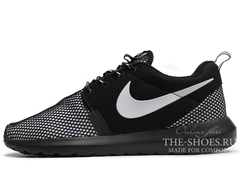 Кроссовки Мужские Nike Roshe One Black White