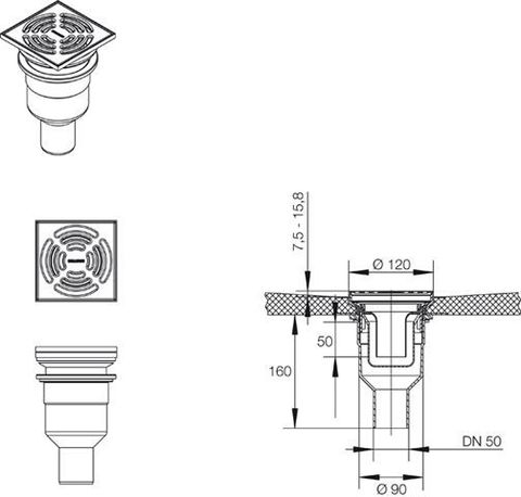 Вертикальный трап MEPA Montagepanel TersoFLAT 150251